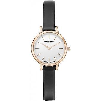 LLarsen (Lars Larsen Black Genuine Leather) WH145GW-GBLL8 Women's Watch