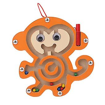木製ブロック子供たち磁気迷路おもちゃの子供の木製のパズルゲームおもちゃの知的バランスボード 磁気