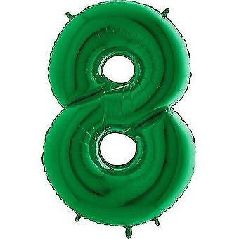 Balloons giant jumbo green number 8 foil balloon decoration - party supplies