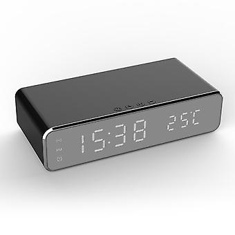 Chargeur sans fil portable 3 en 1 Led Réveil électrique Bureau Thermomètre numérique Horloge Smartphones Chargeurs pour Ios Android