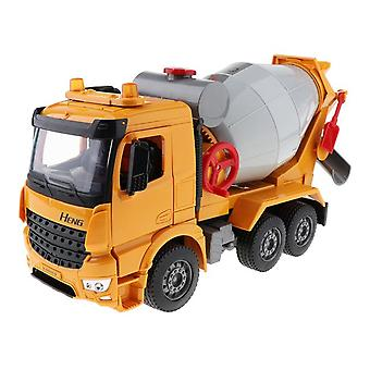 Mixer Truck Rotary Spinner Friction Toy1/18 Ratio Alloy Plastic Mixer Truck