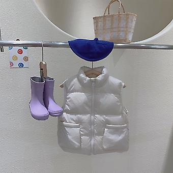 2021 Winter New Children's Down Vest Baby Warm Vest Outer Wear Baby Girl Winter Clothes