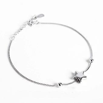 Eenvoudige vijfpuntige ster armband 925 sterling zilveren armband armband armband
