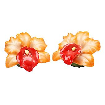 Sunny Orchid Flower Salt and Pepper Shaker