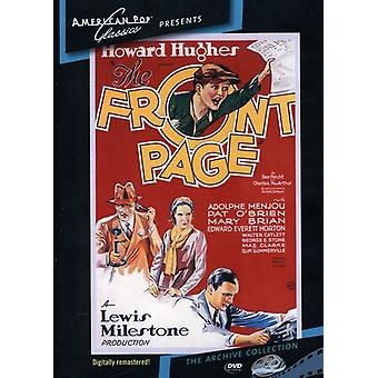 Front Page (1931) [DVD] USA import