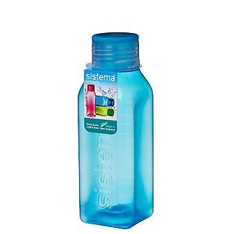 Sistema Hydrate 475ml Square Drink Bottle, Blue