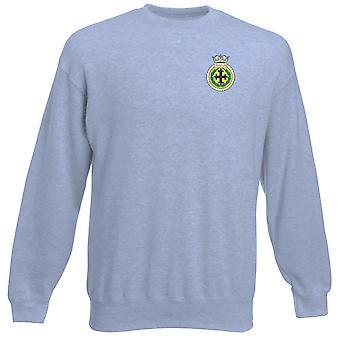 HMS Trafalgar Stickerei Logo - offizielle königliche Marine Heavyweight Sweatshirt