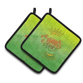 Carolines Treasures  BB7453PTHD Summer Time Pair of Pot Holders