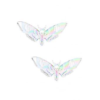 Curiology Iridescent Deaths Head Moth Hair Clips