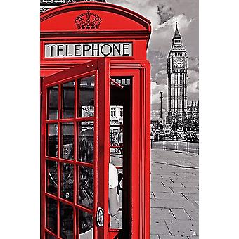 London - Telephone Booth Poster Poster Print