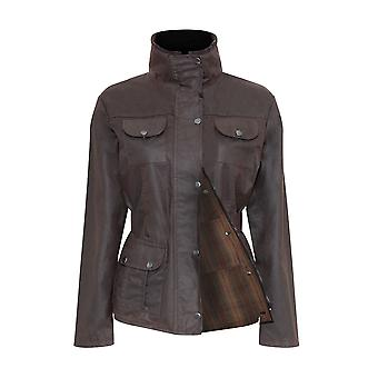 Ladies Champion Ellon Lined Waterproof Wax Fabric Belted Design Jacket Coat