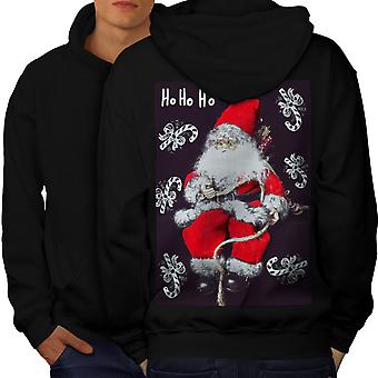 Santa söpö lelu miesten BlackHoodie takaisin | Wellcoda