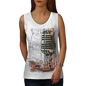 Don ' t zastaviť hudobné ženy whitetank top | Wellcoda
