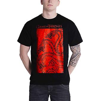 Game of Thrones T Shirt Targaryen géant rouge emblème officiel Mens nouveau noir