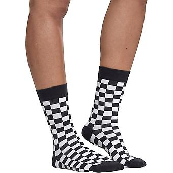 Urban classics - unisex CHECKER calze 2 Pack Black