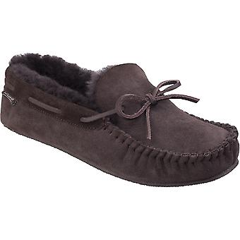 Cotswold Mens Chastleton Luxurious Sheepskin Premium Moccasin Slippers