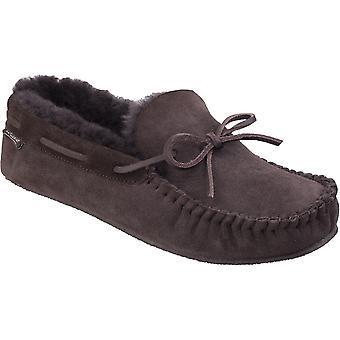 Cotswold Mens Chastleton luxe schapenvacht Premium Mocassin pantoffels