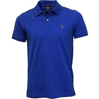 GANT Solid Pique Polo Shirt, Nautical Blue