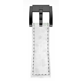 TW Steel Marc Coblen witte armband horloge band 22 MM Croco lederen LB_W_K_B