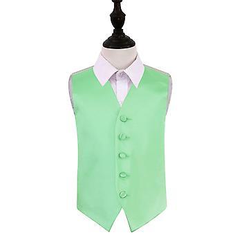 Mint Green Plain Satin Wedding Waistcoat for Boys