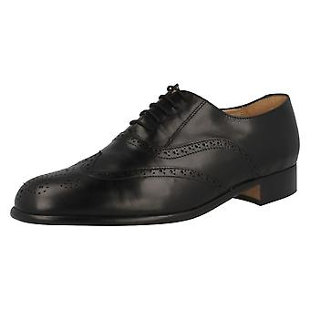 Mens Grenson Lace Up Leather Brogue Shoes 'Euston'