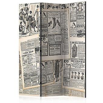Paravent 3 volets - Vintage Newspapers [Room Dividers]