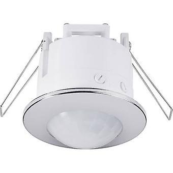 Renkforce 1289331 Ceiling, Recess-mount PIR motion detector 360 ° Relay Chrome IP20