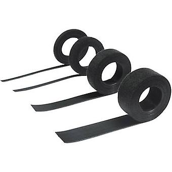 Hebotec 11-KE10005FRT Hook-and-loop tape for bundling Hook and loop pad (L x W) 5000 mm x 10 mm Black 5 m
