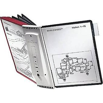 Durable Display board wall bracket SHERPA WALL 10 - 5631 Red, Black A4 No. of display boards 10