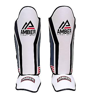 Amber MMA Shin Instep Guards Protective Sports Protective Training XL