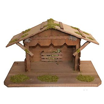 Christmas Nativity scene wood Nativity stable ABEL without figures 45 x 25 x 27 cm hand work