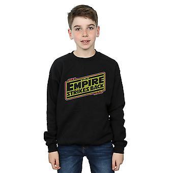 Star Wars pojkar Rymdimperiet slår tillbaka Logo tröja