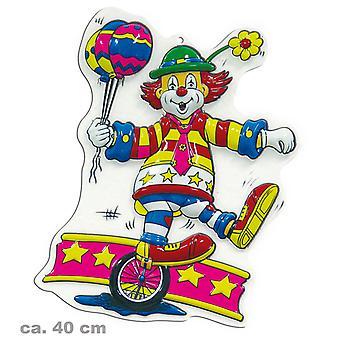 Décorations murales de clown anniversaire de monocycle fête Carnaval