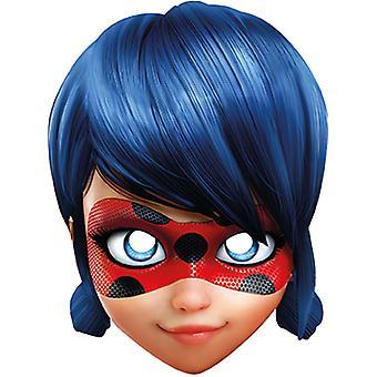 Mirakulösa Lady debug kortet mask Super Heldin kartong mask Carnival