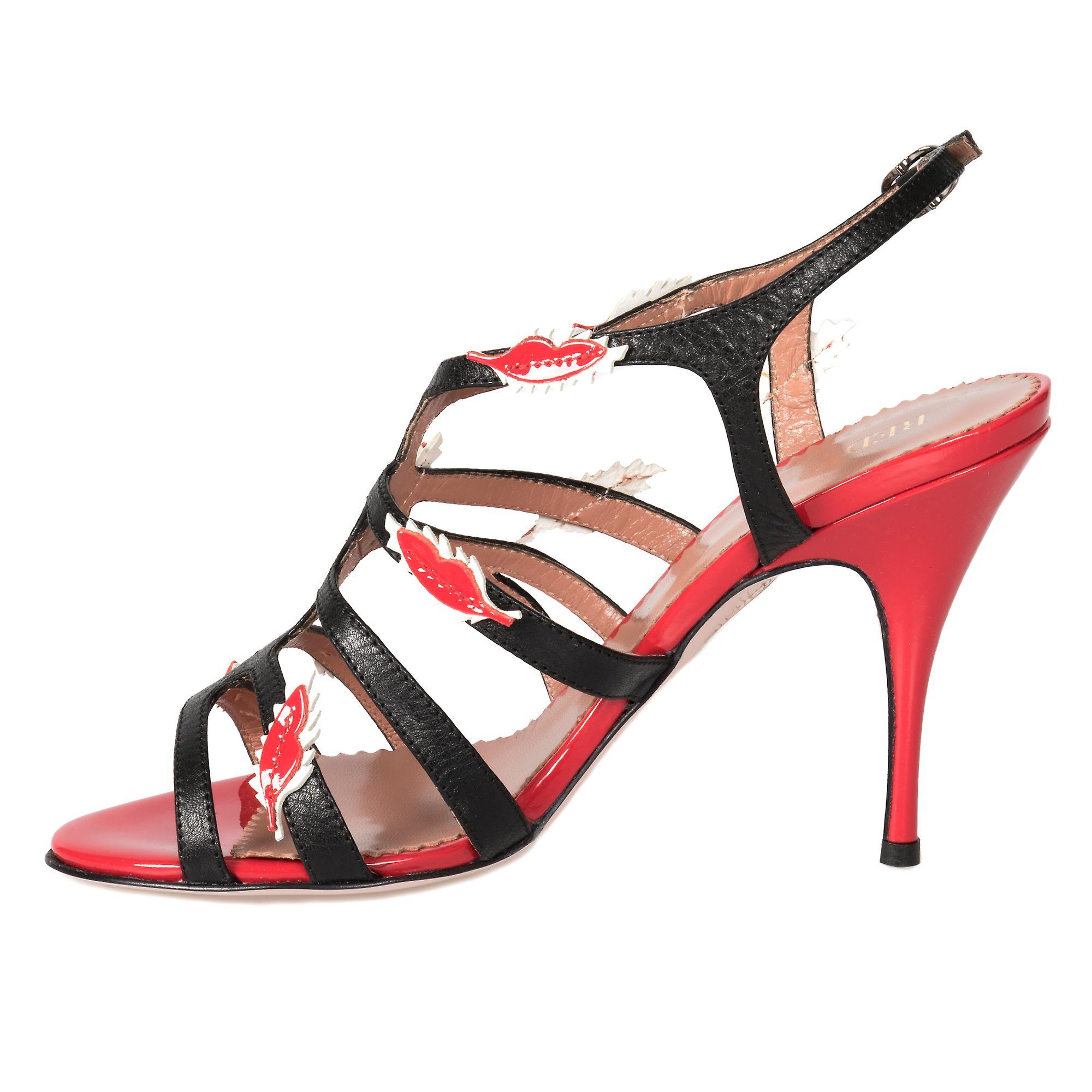 Valentino skinn stropp pumpe 100mm