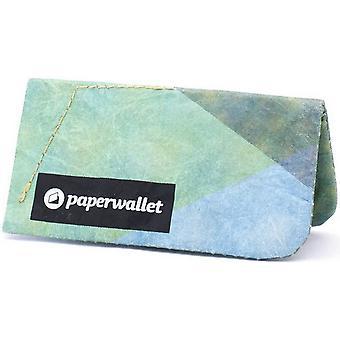 Papier portefeuille monnaie pochette Wallet - vert/jaune/bleu