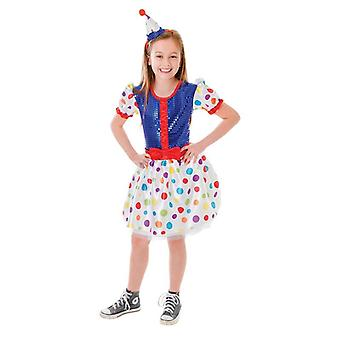 Bnov Clown Costume  Dress + Headband