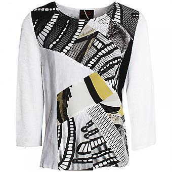 Tivoli Abstract Print Long Sleeve Top