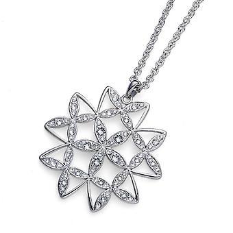 Oliver Weber Chain Mandala Rhodium Crystal