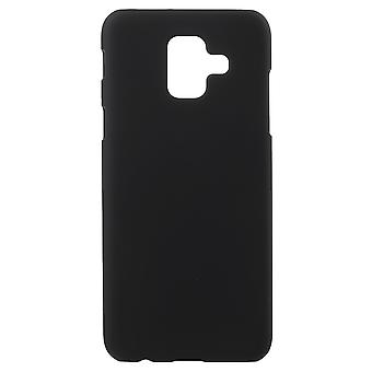 Samsung Galaxy A6 (2018) Gumowana twarda plastikowa powłoka - Czarna