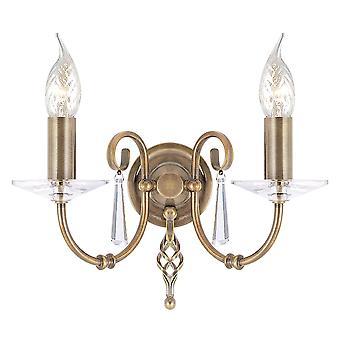 Elstead iluminação do Egeu dois braço envelhecido bronze parede luz