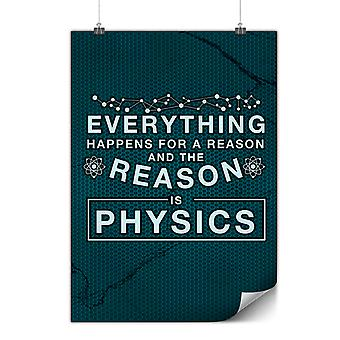 Matte or Glossy Poster with Physics Law Funny | Wellcoda | *y3547