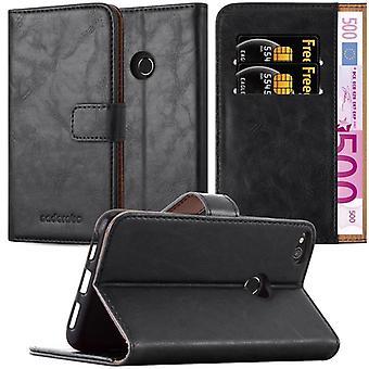 Cadorabo Hülle für Huawei P8 LITE 2017 Case Cover - Handyhülle mit Magnetverschluss, Standfunktion und Kartenfach – Case Cover Schutzhülle Etui Tasche Book Klapp Style