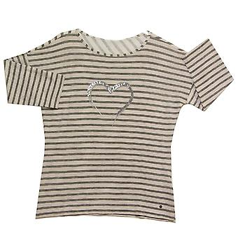 OLSEN T-Shirt 11102960 Grey And Berry Red