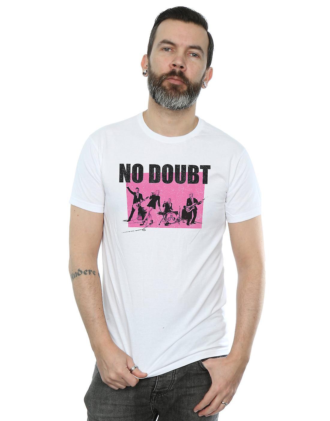 No Doubt Men's Pink Square Ska T-Shirt