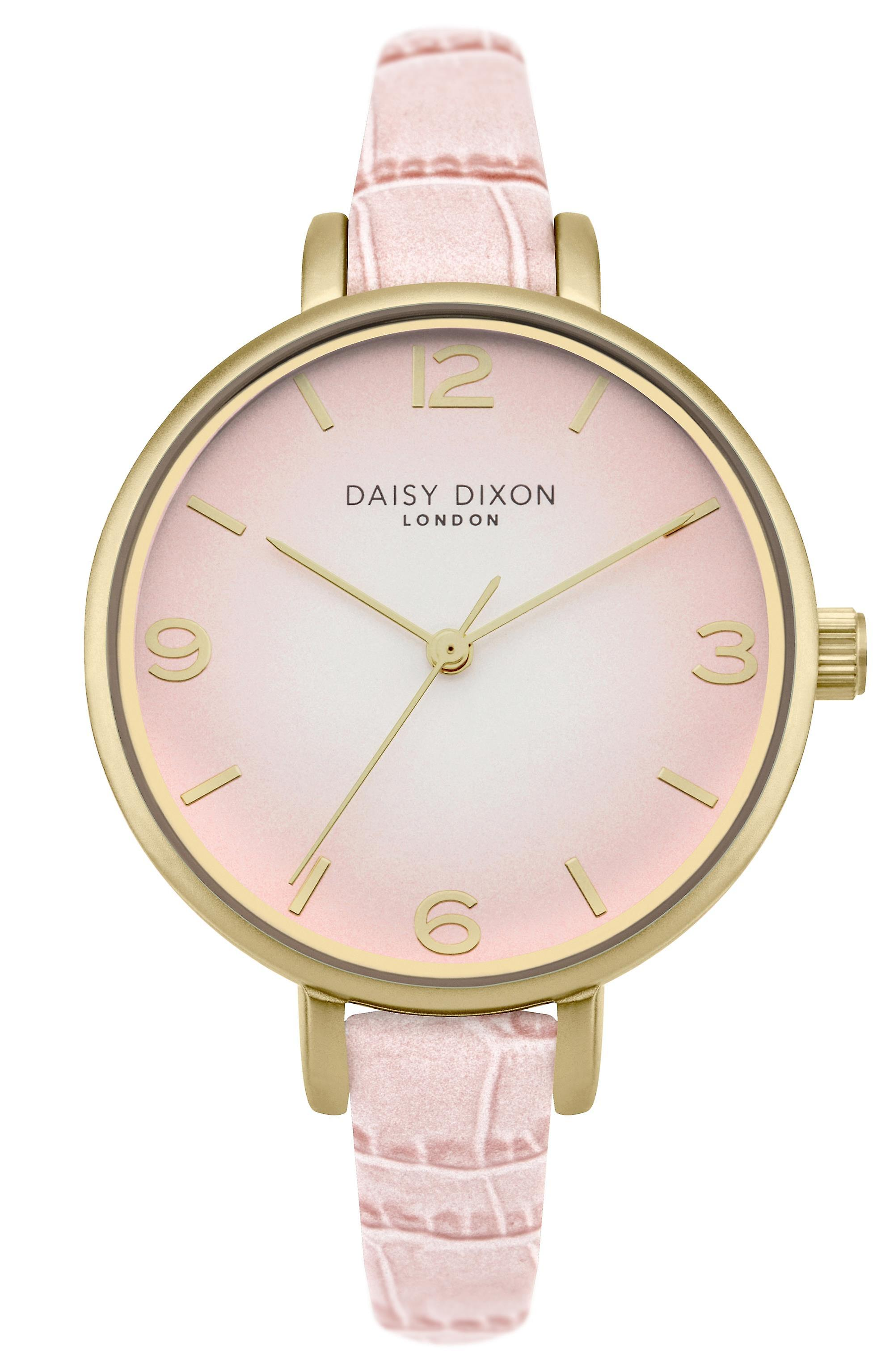 Daisy Dixon Millie Pink Leather Strap Ladies Watch DD041P