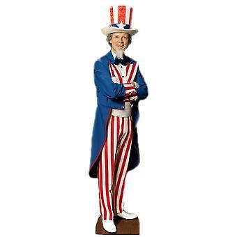 Uncle Sam (partij Prop) - Lifesize karton gestanst / Standee