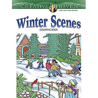 Kreative Oase Winter Szenen Malbuch (kreative Oase Malbücher)