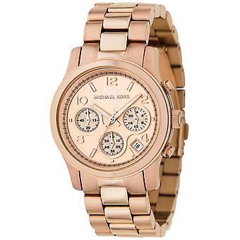 Michael Kors Runway Chronograph Gold Wrist Watch MK5128