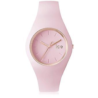 Is se Glam pastell armbåndsur, analog ekstern unisex silikon, rosa